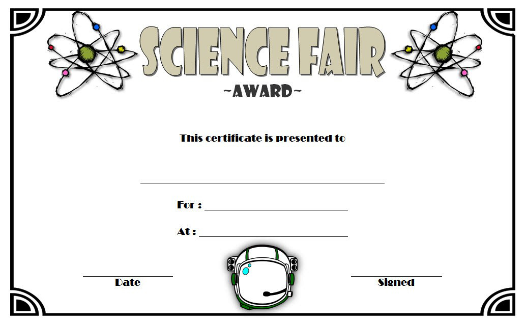 10 Amazing Science Fair Winner Certificate Template Ideas Intended For Quality Science Award Certificate Templates