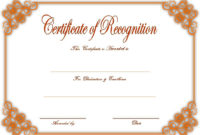 10 Downloadable Certificate Of Recognition Templates Free Throughout Free Microsoft Office Certificate Templates Free