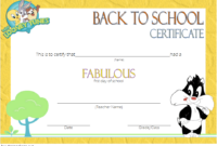 10 First Day Of School Certificate Printable Free Designs With Regard To Free Teamwork Certificate Templates 10 Team Awards