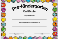 10 Free Editable Pre K Graduation Certificates Word Pdf Within 10 Kindergarten Graduation Certificates To Print Free