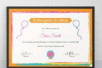 10 Kindergarten Certificate Templates Illustrator For Pages Certificate Templates