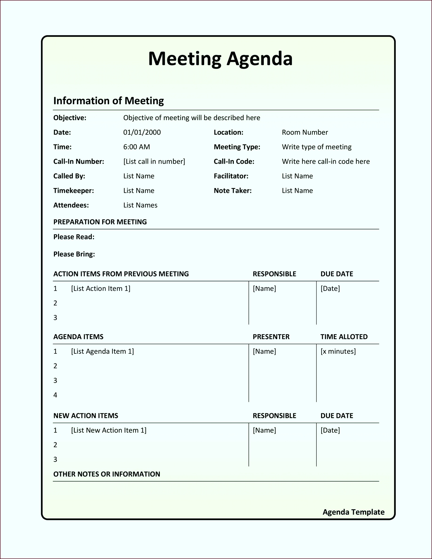 10 One On One Staff Meeting Agenda Template Template In 1 On 1 Meeting Agenda Template
