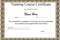 10 Training Certificate Templates Free Printable Word Intended For 10 Sportsmanship Certificate Templates Free