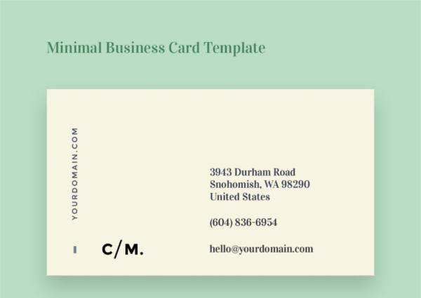 108 Inspiring Minimalist Business Card Templates Ai Ms With Regard To 2 Sided Business Card Template Word