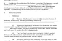 11 Business Noncompete Agreement Templates Free Sample With Regard To Business Templates Noncompete Agreement