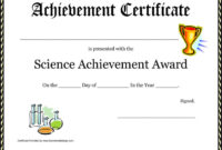 12 Achievement Award Templates Free Download In Science Award Certificate Templates