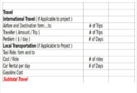 18 Excel Proposal Templates Free Sample Example Format Regarding Travel Proposal Template