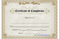 18 Free Certificate Of Completion Templates Utemplates With Best Blank Certificate Templates Free Download