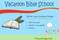 18 Vacation Bible School Certificate Templates Free Throughout Printable Vbs Certificates Free