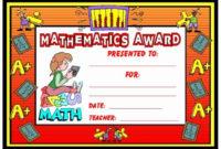 20 Free Editable Maths Certificates ™ Dannybarrantes Inside Printable Math Award Certificate Template
