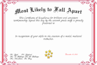 20 Most Likely To Certificate ™ Dannybarrantes Template In Most Likely To Certificate Template Free
