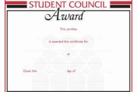 20 Student Council Awards Certificates ™ Dannybarrantes Within Amazing Student Council Certificate Template