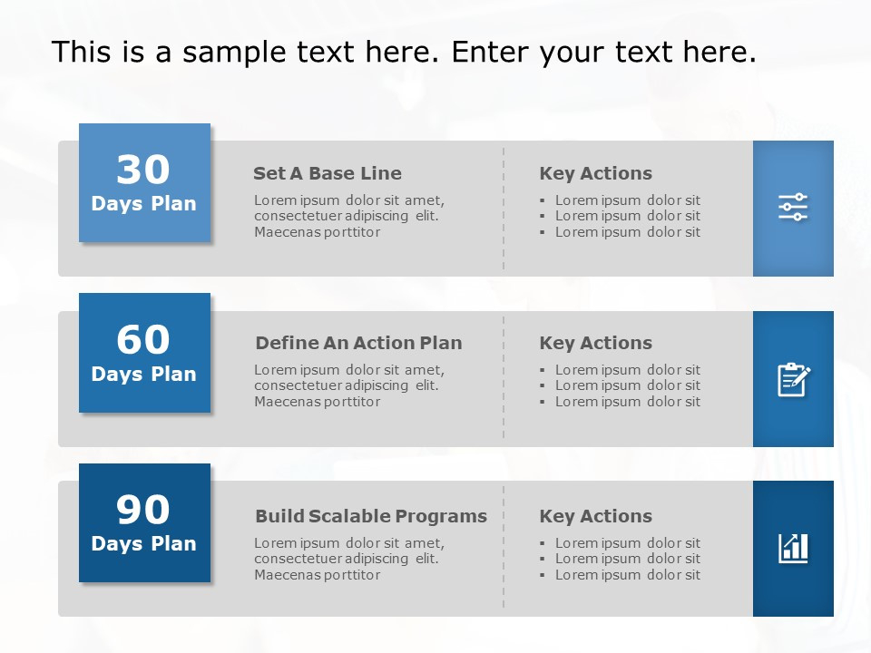 30 60 90 Day Plan Powerpoint Template 5 30 60 90 Day With 30 60 90 Business Plan Template Ppt