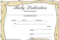 4 Baby Certificate Free Download Regarding Baby Dedication Certificate Templates