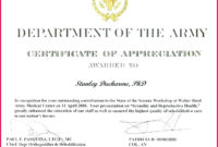 5 Army Nco Promotion Certificate Template 34763 Fabtemplatez Pertaining To Army Certificate Of Appreciation Template