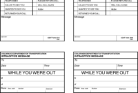 5 While You Were Out Templates Formats Examples In Word Within Voicemail Log Template