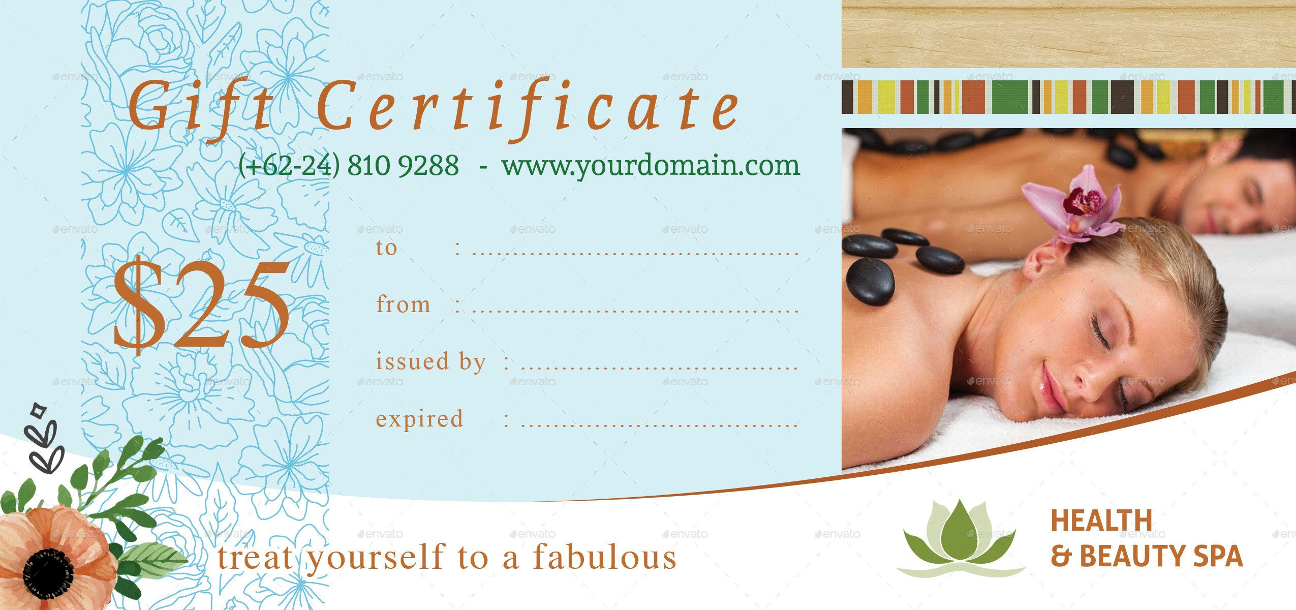 51 Premium Free Psd Professional Gift Certificates For Spa Day Gift Certificate Template
