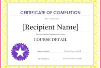 6 Certificates Of Completion Printable 53194 Fabtemplatez Regarding Printable Vbs Certificates Free