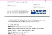 6 Print Forklift Certification Card Template 38541 With Regard To Quality Forklift Certification Card Template