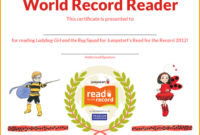 6 Reading Certificate Templates Free Download For Amazing Reading Achievement Certificate Templates