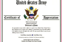 7 Department Of The Army Certificate Of Achievement Regarding Printable Army Certificate Of Appreciation Template