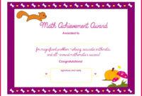 7 Math Achievement Award Certificate Templates 65907 With Regard To Math Award Certificate Template