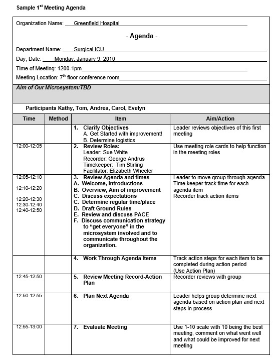 9 Free Sample Basic Meeting Agenda Templates Printable With Awesome Agenda And Meeting Minutes Template