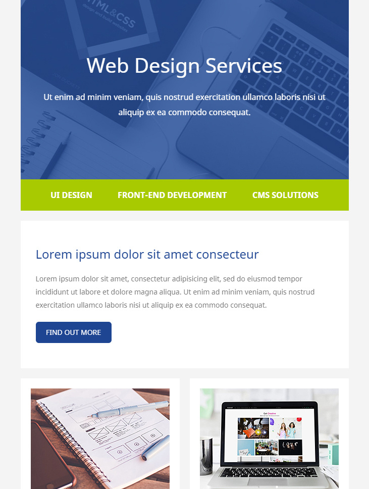 99 Free Responsive Html Email Templates To Grab In 2020 Regarding Estimation Responsive Business Html Template Free Download