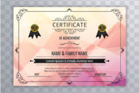 Abstract Beautiful Certificate Template Design Vector In Amazing Design A Certificate Template