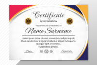 Abstract Creative Certificate Of Appreciation Award With In Appreciation Certificate Templates