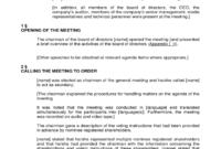 Annual General Meeting Agenda Template 8 Free Templates With Plc Meeting Agenda Template