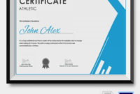 Athletic Certificate 5 Word Psd Format Download Free For Awesome Athletic Certificate Template