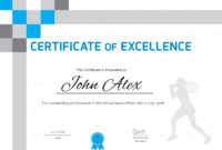 Athletic Excellence Certificate Design Template In Psd Word With Athletic Certificate Template