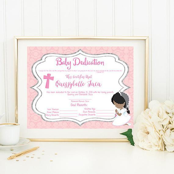 Baby Dedication Certificate Etsy Inside Baptism Certificate Template Word 9 Fresh Ideas