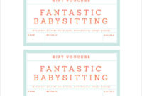 Babysitting Coupon Template In Free Printable Babysitting Gift Certificate