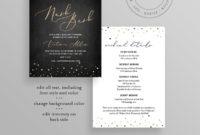 Bachelorette Party Invitation Itinerary / Agenda For Printable Bachelorette Party Agenda Template