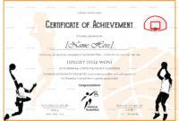Basket Ball Award Achievement Certificate Design Template Regarding Basketball Certificate Template Free 13 Designs