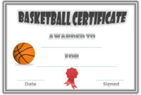 Basketball Award Certificates With Quality Basketball Certificate Template