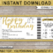 Birthday Holiday Travel Ticket Reveal Gift Idea Template Throughout Travel Gift Certificate Editable
