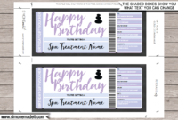 Birthday Spa Gift Voucher Template Editable Printable With Regard To Free Spa Day Gift Certificate Template