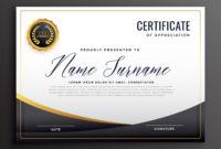 Black Certificate Of Appreciation Template Download Free Regarding Amazing In Appreciation Certificate Templates