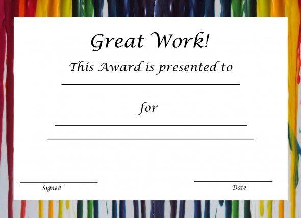 Blank Certificates In Free Printable Blank Award Certificate Templates
