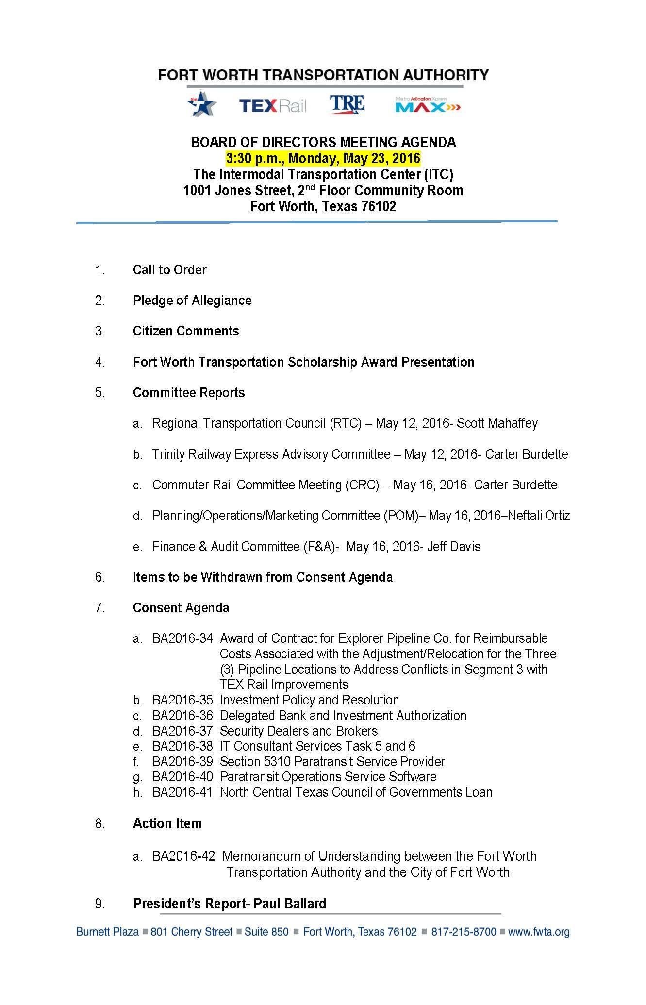 Board Of Directors Strategy Meeting Agenda Template Pdf Within Town Hall Meeting Agenda Template