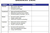 Business Case Template 7 Free Pdf Doc Download In Business Case One Page Template