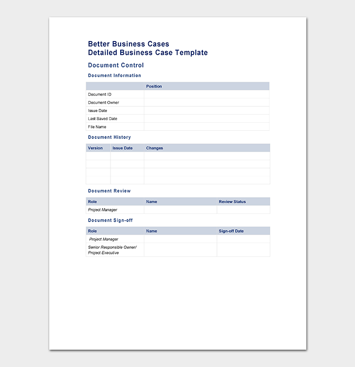 Business Case Template 9 Simple Formats For Word Regarding Business Case One Page Template