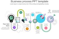 Business Process Ppt Template Curve Model Slideegg Throughout Business Process Modeling Template