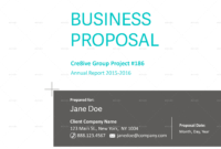 Business Proposal Templatecaallen Graphicriver Inside Proposal Cover Page Template
