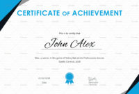 Certificate Of Athletic Achievement Design Template In Psd Throughout Awesome Athletic Certificate Template