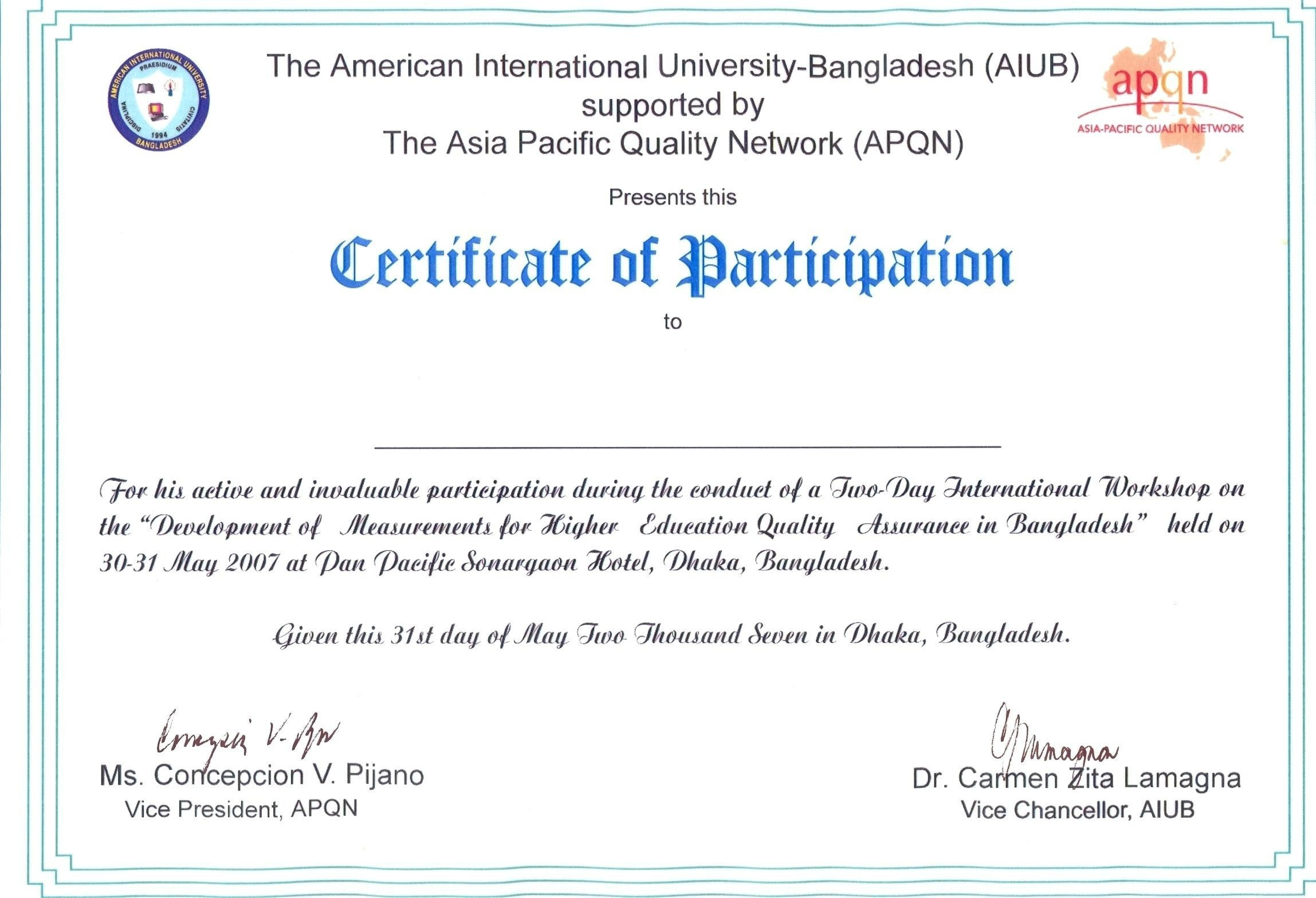 Certificate Of Participation Wording Canasbergdorfbibco For Templates For Certificates Of Participation