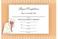 Certificate Of Project Completion Template Download For Certificate Template For Project Completion